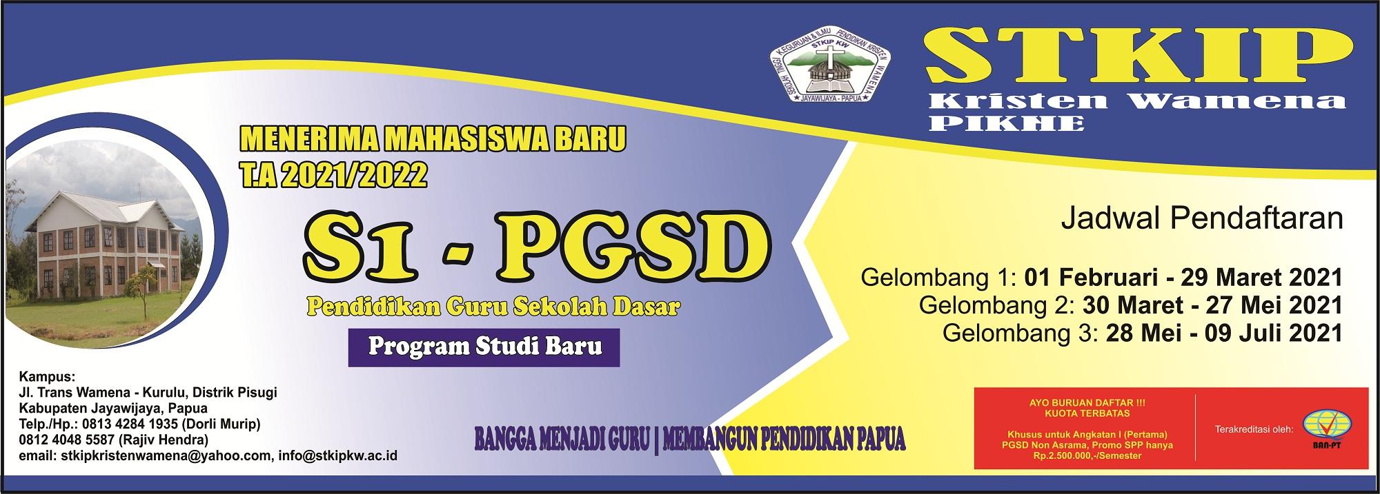 PROGRAM STUDI PGSD (PENDIDIKAN GURU SEKOLAH DASAR)